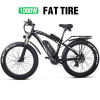 MX02S Electric Bike 1000W Snow Bike Electric Bicycle Electric Mountain Bike 26 inch 4.0 Fat Tire ebike 48V13Ah Lithium Battery