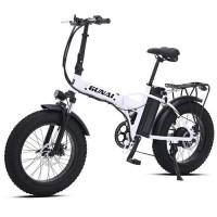 GUNAI MX20 500W electric bicycle, 20-inch foldable mountain snow electric bicycle road bike, 7-speed disc brake
