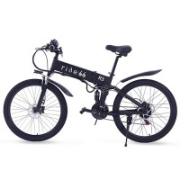 ride66 R3 26 inch folding electric bicycle Mountain Bike 21-speedHydraulic Brakes