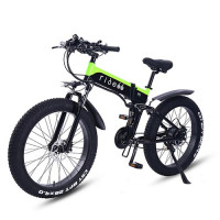 RIDE66 R5 26 inch folding electric bicycle 1000W 48V 12.8AH LG cell battery Fat Tire Mountain Bike21-speed Hydraulic Brakes