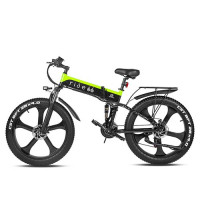 RIDE66 R5s 26 inch folding electric bicycle 1000W 48V 12.8AH LG cell battery Fat Tire Mountain Bike21-speed Hydraulic Brakes